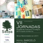 Cartel y tríptico VII Jornadas Seopa